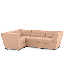 "Roxanne II Performance Fabric 4-Pc. ""L"" Modular Sofa - Custom Colors, Created for Macy's"