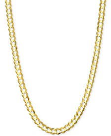 "20"" Open Curb Link Chain Necklace (3-5/8mm) in Solid 14k Gold"