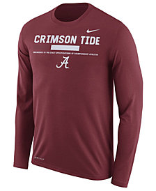 Nike Men's Alabama Crimson Tide Legend Sideline Long Sleeve T-Shirt