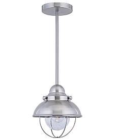 Sea Gull Outdoor Lighting, Sebring Stainless Steel Mini Pendant