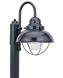 Sea Gull Outdoor Lighting, Sebring Black Post Lantern