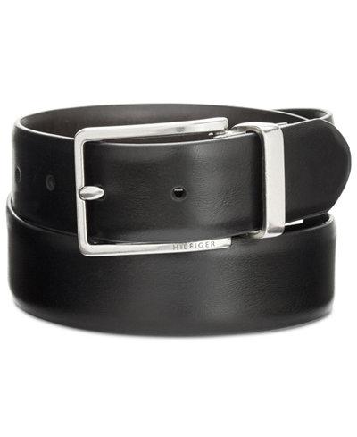 Tommy Hilfiger Men's Feather-Edge Reversible Belt