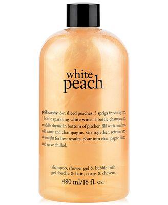 Philosophy White Peach Shampoo Shower Gel Bubble Bath Created For Macys