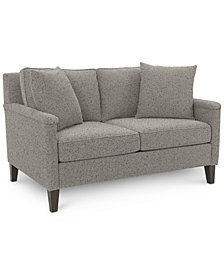 "CLOSEOUT! Brittna 57"" Fabric Loveseat, Created for Macy's"