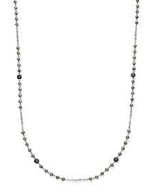 INC Two-Tone Pavé Beaded Station Necklace, Created for Macy's