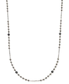 I.N.C. Two-Tone Pavé Beaded Station Necklace, Created for Macy's