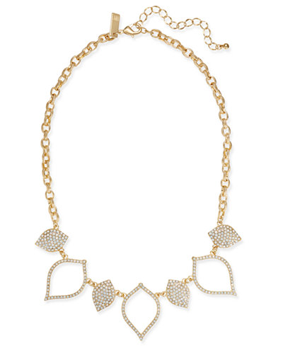 I.N.C. Gold-Tone White Stone Statement Necklace, Created at Macy's