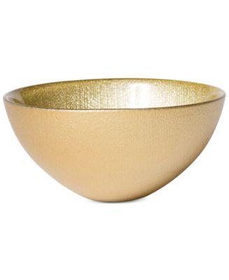 Glitter Glass Gold Small Bowl