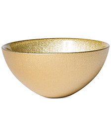 VIETRI Glitter Glass Gold Small Bowl