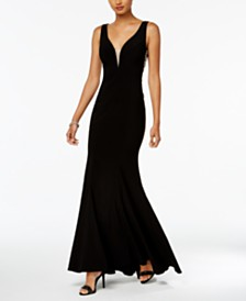 f3bf6567d02 Betsy   Adam B   A by Contrast-Ruffle Gown   Reviews - Dresses ...