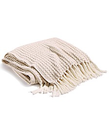 Hotel Collection Pebble Diamond Cotton Throw, Created for Macy's