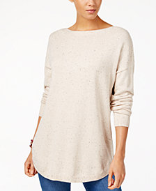 Maison Jules Cotton Boat-Neck Sweater, Created for Macy's