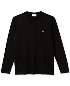 Long Sleeve Pima Jersey Crew Neck Tee Shirt