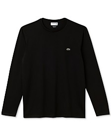 Lacoste Long Sleeve Pima Jersey Crew Neck Tee Shirt