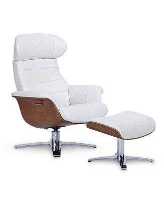 Furniture Anniston 31 Quot Leather Swivel Chair Recliner
