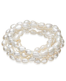 Cultured Freshwater Baroque Pearl (7mm) 5-Pc. Stretch Bracelet Set