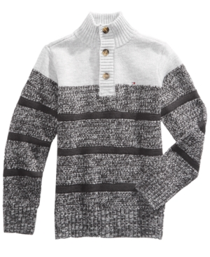 Tommy Hilfiger Vince Striped Cotton Sweater Big Boys (820)