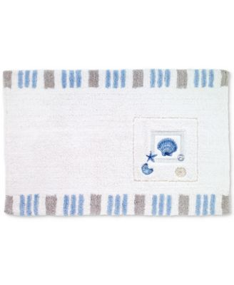 Island View Cotton Embroidered Bath Rug