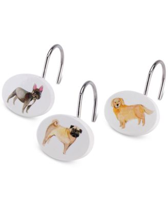 Dogs on Parade 12-Pc. Shower Hook Set