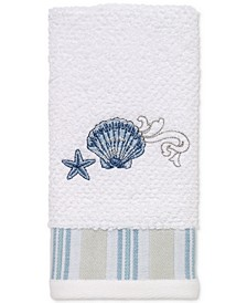 Island View Cotton Embroidered Fingertip Towel