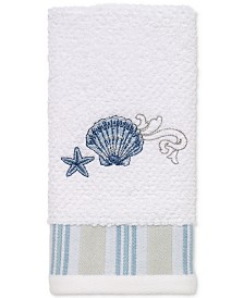 Avanti Island View Cotton Embroidered Fingertip Towel