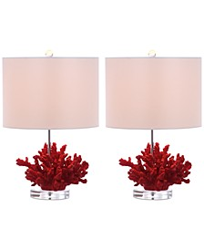 Coral Reef Set of 2 Table Lamps