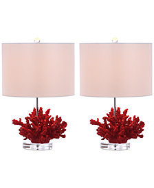 Safavieh Coral Reef Set of 2 Table Lamps
