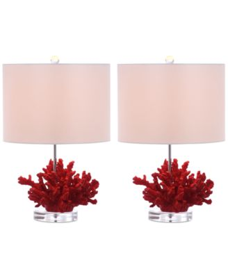 Safavieh Coral Reef Set of 2 Table L&s  sc 1 st  Macyu0027s & Safavieh Coral Reef Set of 2 Table Lamps - Lighting u0026 Lamps - For ...