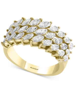 D'Oro by Effy Diamond Marquise Cluster Ring (1-3/4 ct. t.w.) in 14k Gold -  Effy Collection, RP0AB82DD4