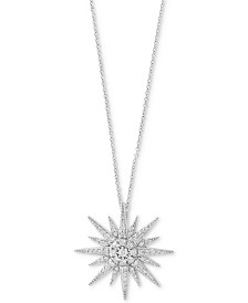 Pavé Classica by EFFY® Diamond Starbust Pendant Necklace (1/2 ct. t.w.) in 14k White Gold