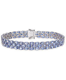 Tanzanite Three-Row Bracelet (22 ct. t.w.) in Sterling Silver