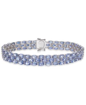 Tanzanite Three-Row Bracelet (22 ct. t.w.) in Sterling Silver -  Macy's