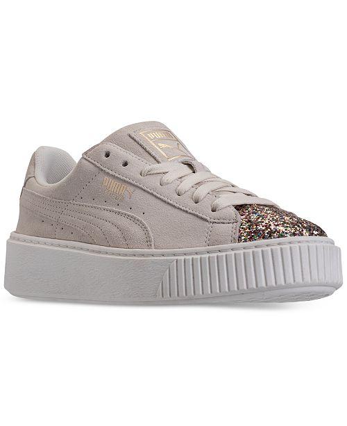 791dcb1f2261 ... Puma Women s Suede Platform Crushed Gem Casual Sneaker ...