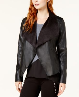 Synthetic Leather Jacket The UZ Global Black Faux Leather Jacket for Men