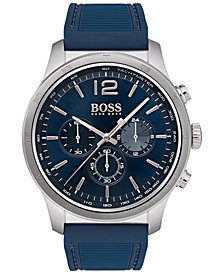 BOSS Hugo Boss Men's Chronograph Professional Blue Rubber Strap Watch 42mm