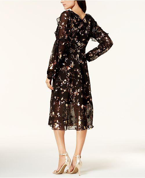 d5319516 RACHEL Rachel Roy Printed Mesh Wrap Dress & Reviews - Dresses ...