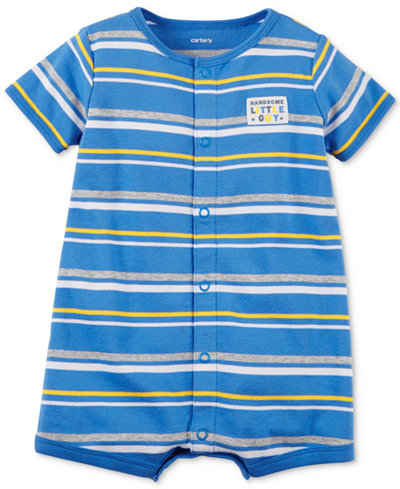 Carter's Striped Cotton Romper, Baby Boys