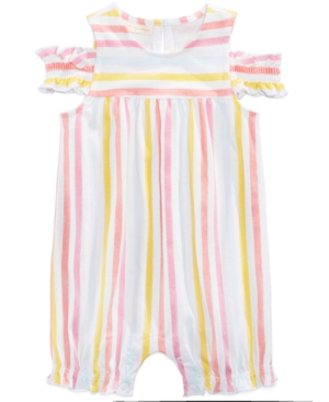 First Impressions Watercolor Striped Romper Baby Girls (024 months) Created for Macys