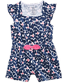 First Impressions Heart-Print Romper, Baby Girls, Created for Macy's
