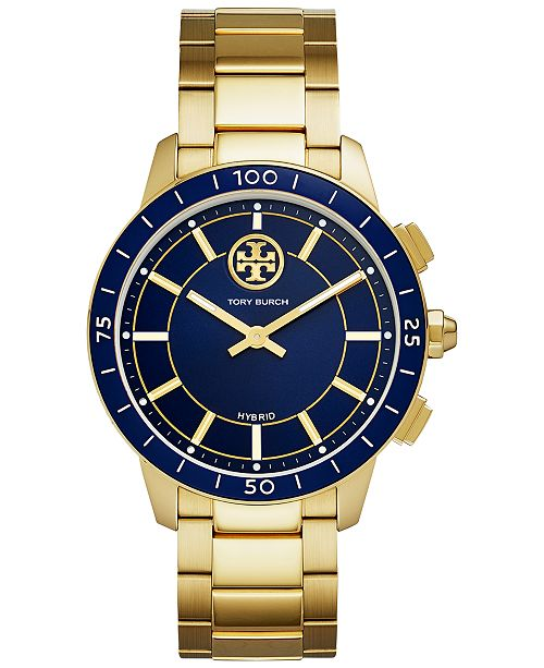 Tory Burch Women's ToryTrack Collins Gold-Tone Stainless Steel Bracelet Hybrid Smart Watch 38mm