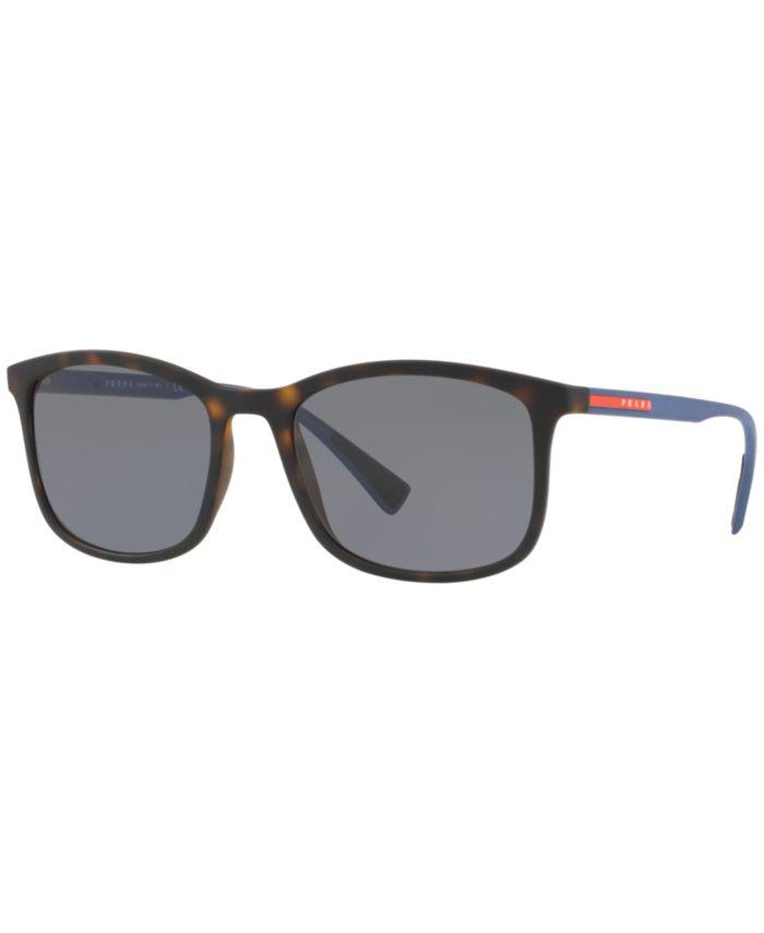 Prada Linea Rossa Polarized Sunglasses , PS 01TS & Reviews - Sunglasses by Sunglass Hut - Men - Macy's