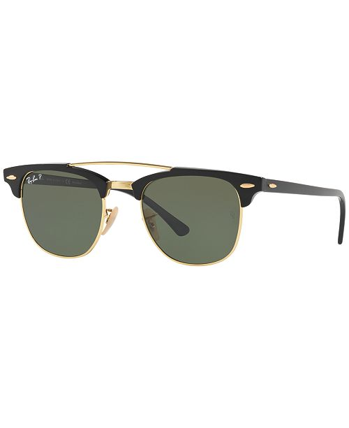 Ray-Ban Polarized Sunglasses , RB3816 CLUBMASTER DOUBLE BRIDGE