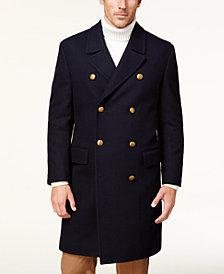 Tallia Men's Navy Double-Breasted Topcoat