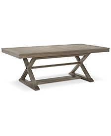 Rachael Ray Highline Expandable Trestle Dining Table