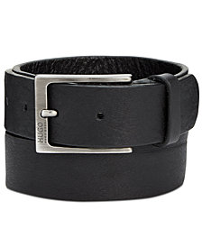 Hugo Boss Men's Geronio Grainy Leather Belt