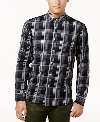 Volcom Men's Cranmore Plaid Flannel Shirt - Casual Button-Down ...