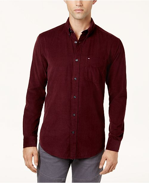 cbd1cdeb ... Tommy Hilfiger Men's Bridges Corduroy Shirt, Created for Macy's ...