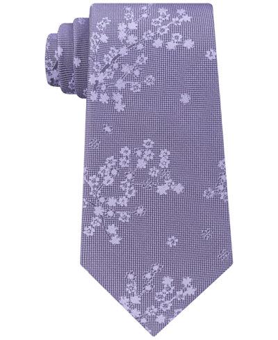 Calvin Klein Men's Climbing Botanical Silk Tie