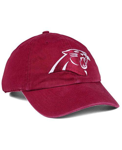 '47 Brand Carolina Panthers Cardinal CLEAN UP Cap