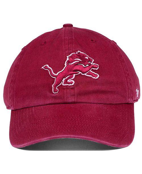'47 Brand Detroit Lions Cardinal CLEAN UP Cap